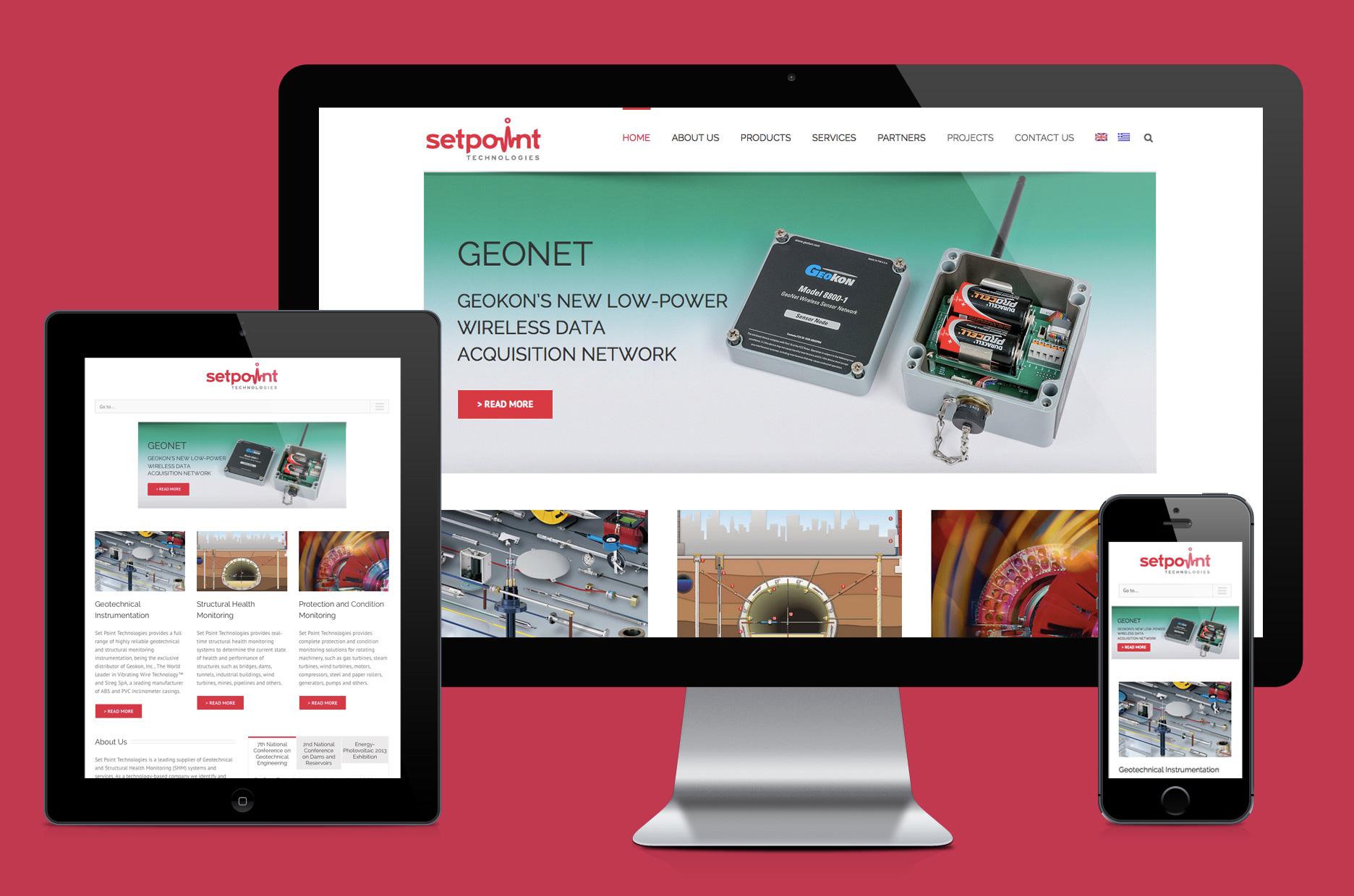 Set Point Technologies website