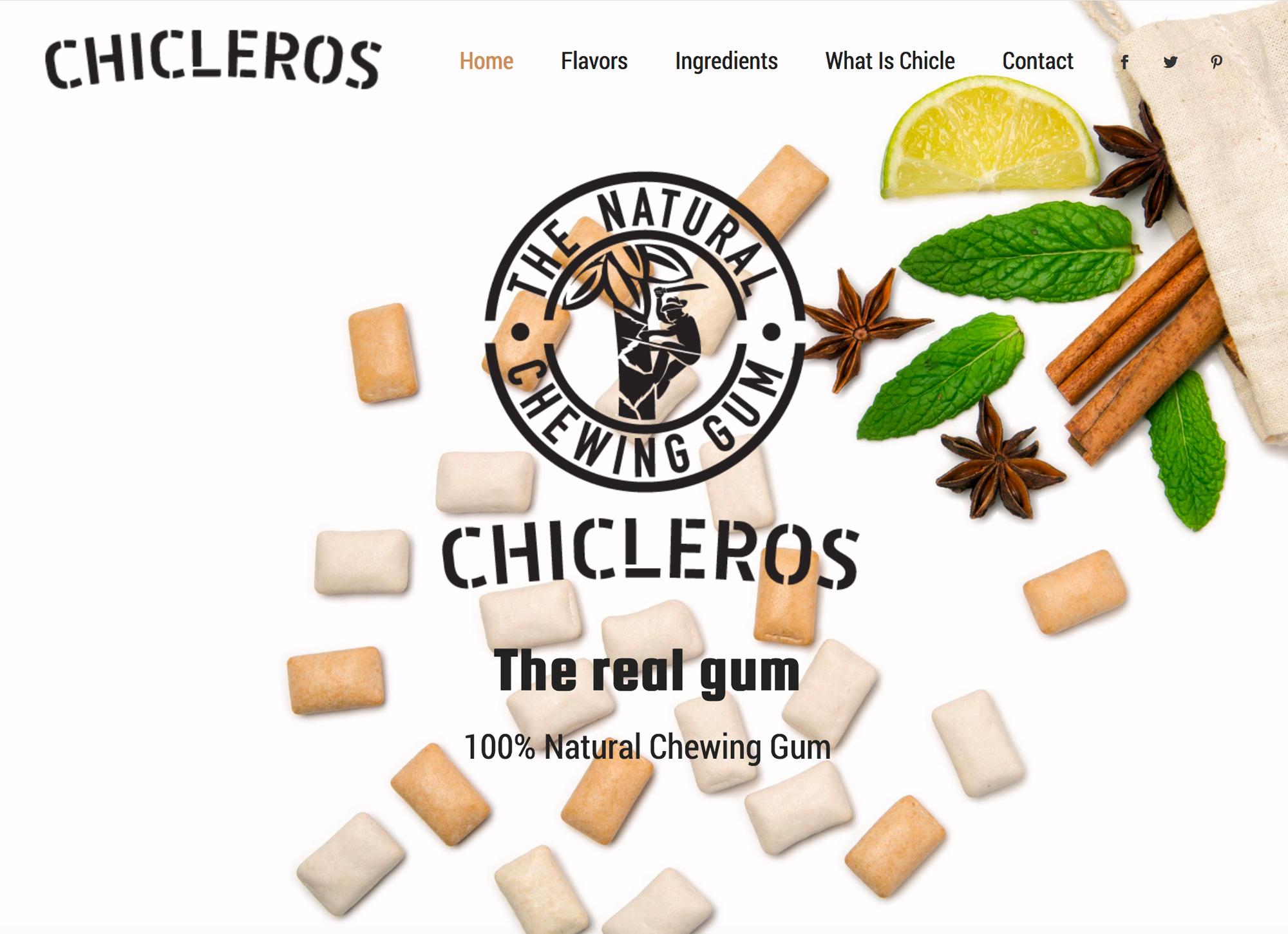 Chicleros Gum Website Design