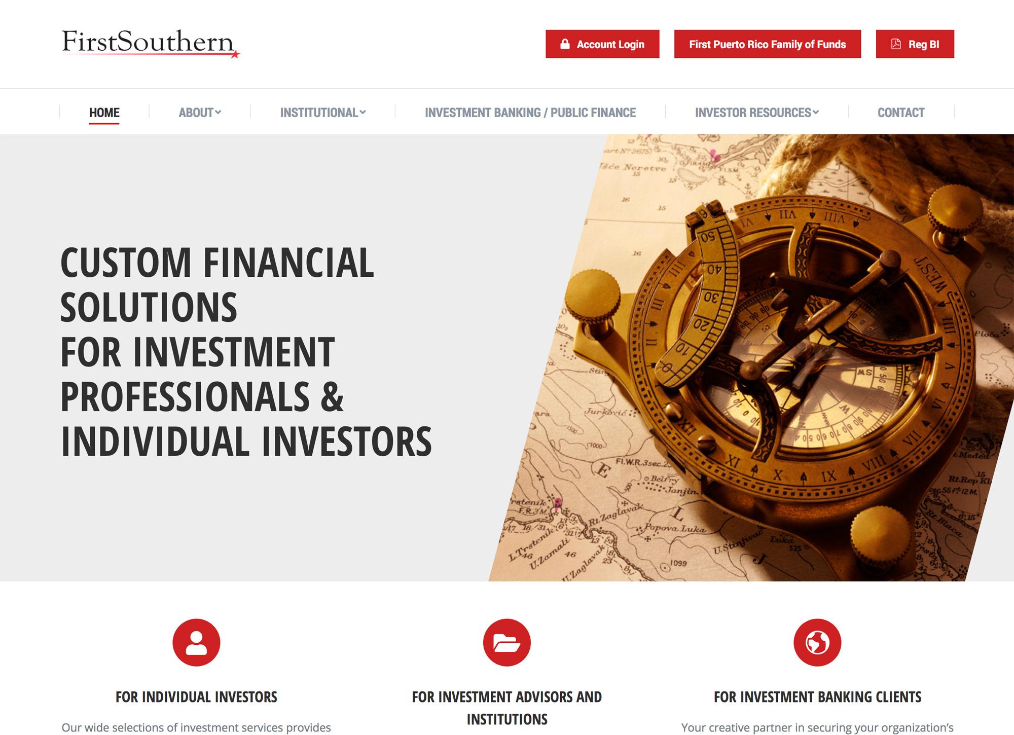 First Southern website design