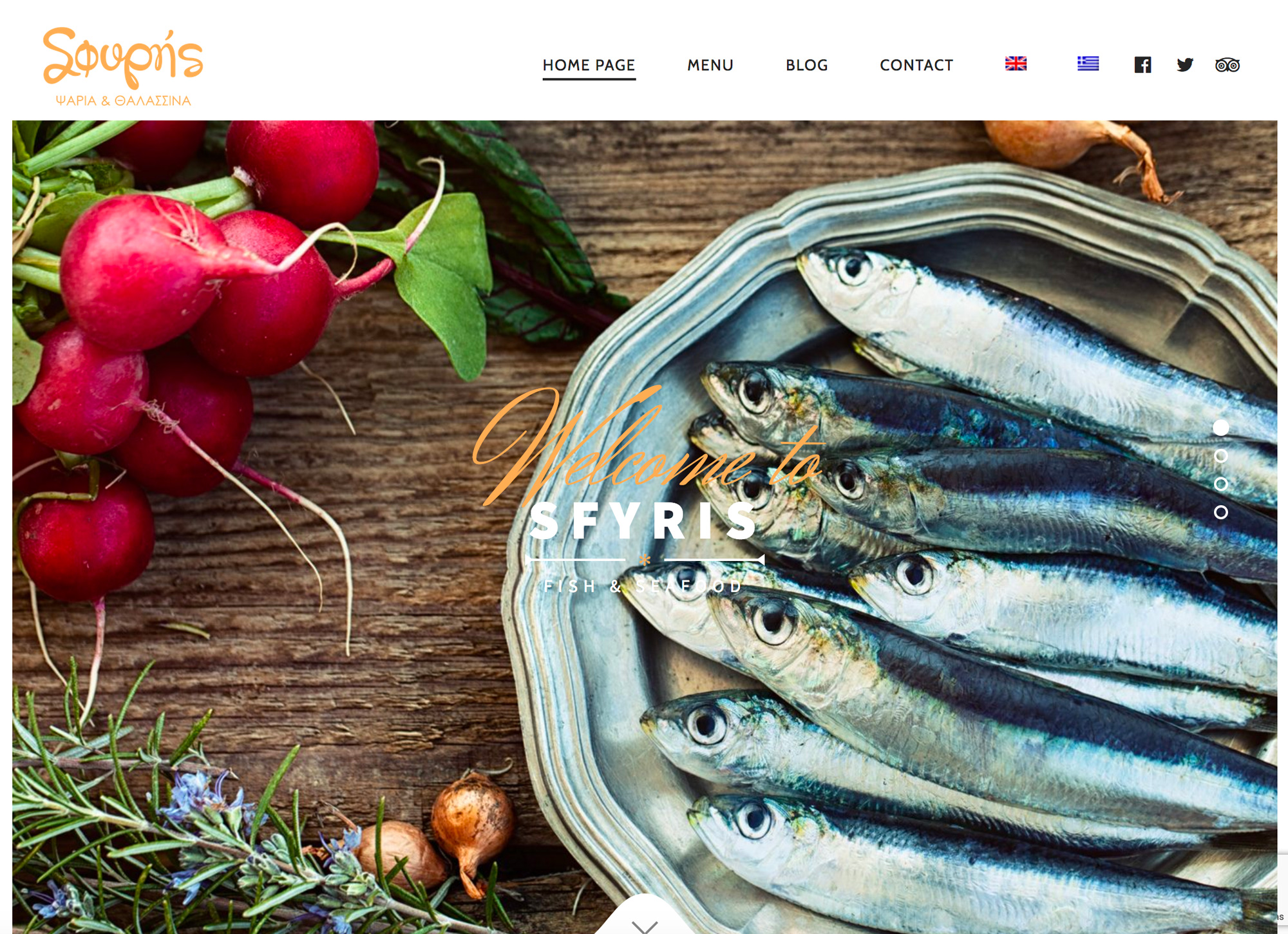 Sfyris Seafood Restaurant Website Development