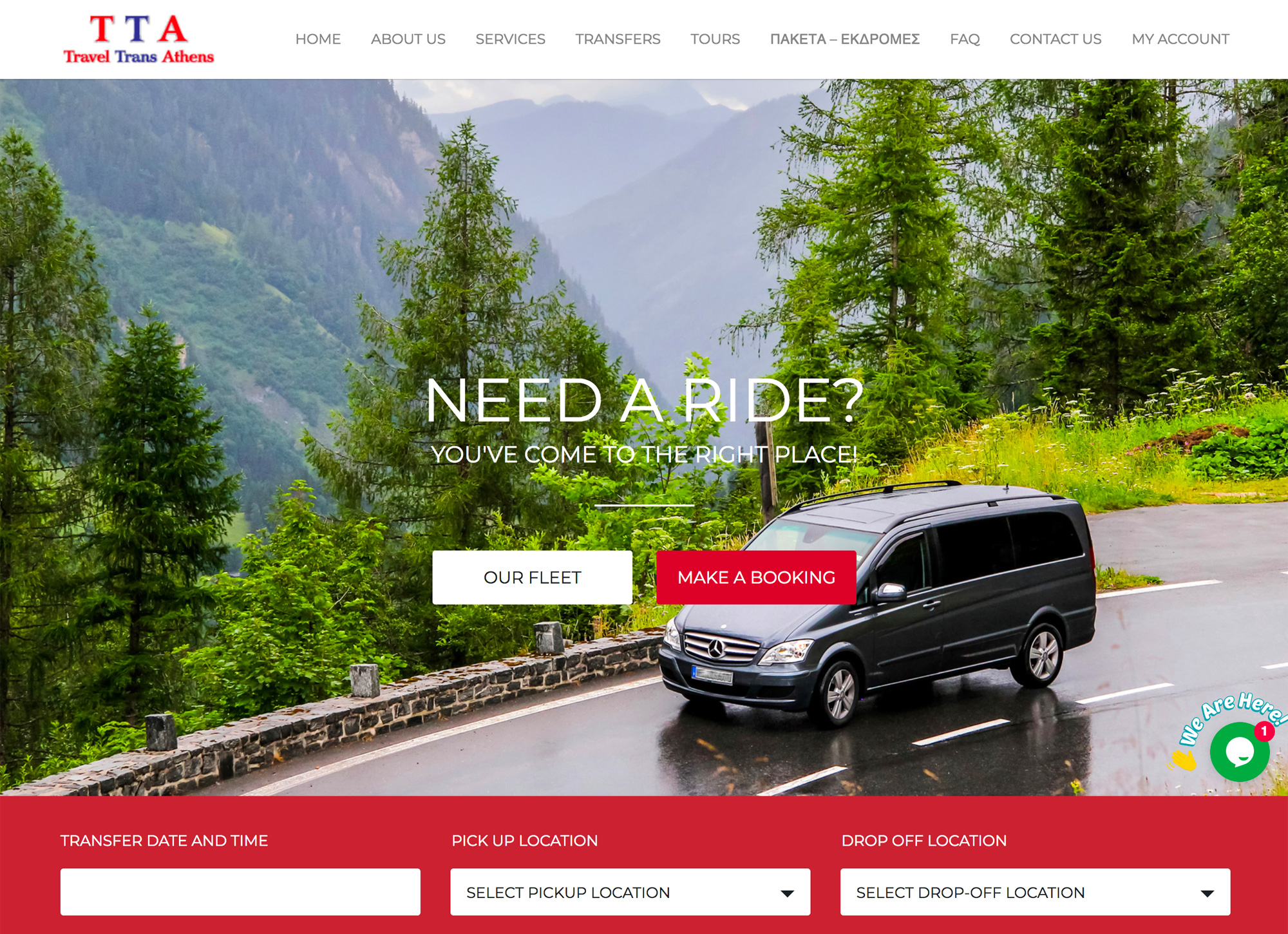 Travel Trans Athens Agency website development