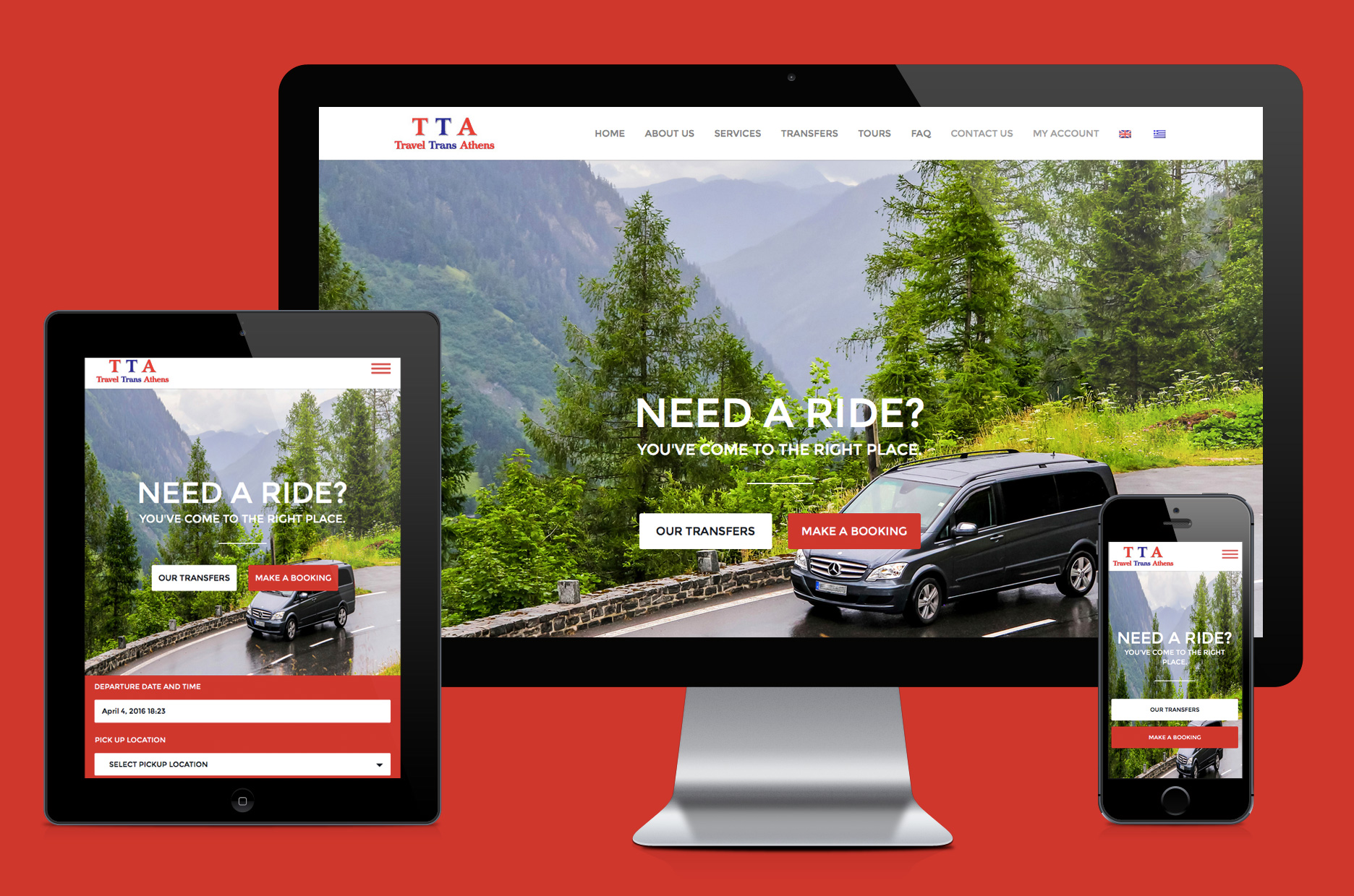 TTA agency website creation with online booking